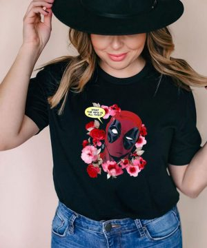 Marvel Deadpool What The Flower Crown Raglan Baseball T shirt