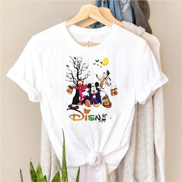 Mickey mouse and Duck and Goofy Disney Happy Halloween shirt