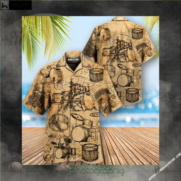Music No Drums No Life Know Drums Know Life Edition - Hawaiian Shirt