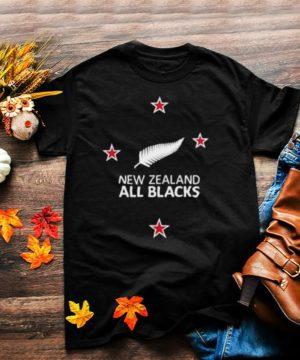 New Zealand Fern Southern NZ Cross Rugby Fan Chest Placement shirt