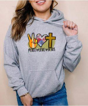 Peace Love Jesus shirt