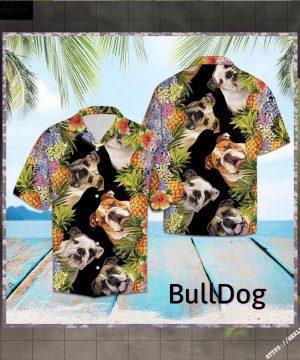 Personalized Bulldog Pineapple Hawaiian Shirt