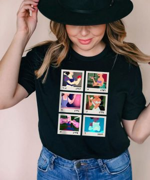 Princess Polaroid Photo Grid T shirt