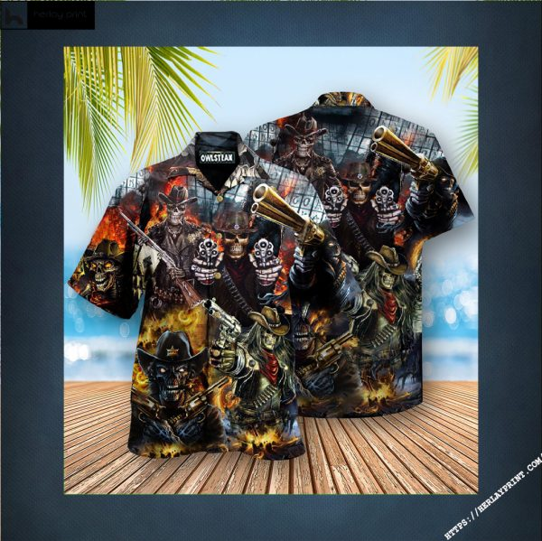 Skull No Guts No Glory Edition - Hawaiian Shirt