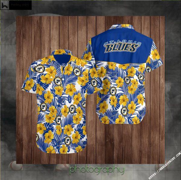 St-Louis-Blues Hockey Hawaiian Aloha shirt