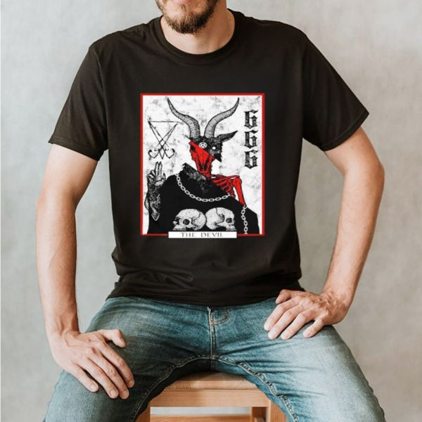 The devil skull satan logo shirt