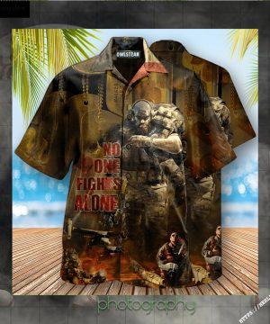 Veteran No One Fights Alone Edition - Hawaiian Shirt