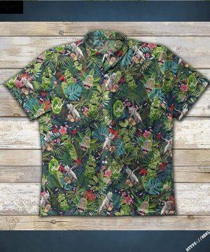 Weed Rick-And-Morty Smoke Hawaiian Aloha shirt