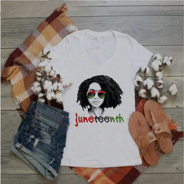 Women's Black Queen Afro Unapologetically Dope Melanin Girl Juneteenth T shirt (4)