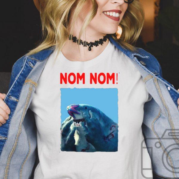Nom nom king shark shirt