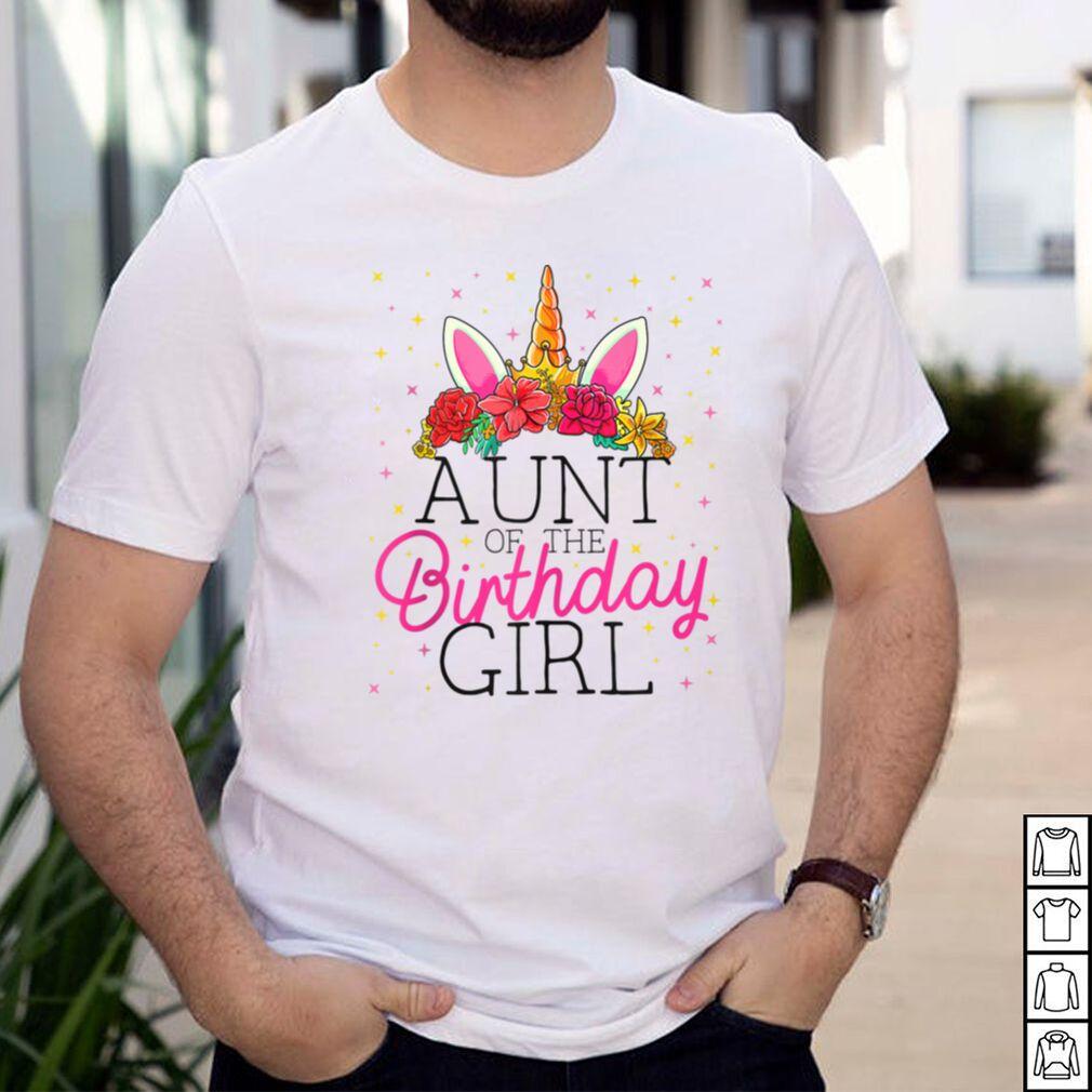 Aunt of the Birthday Girl Unicorn Birthday Tank Top