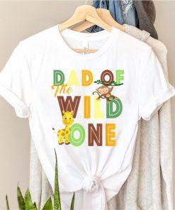 Dad of the Wild One Zoo Birthday Safari Jungle Animal T Shirt