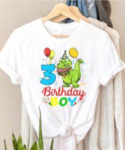 Kids 3 Year Old Gift 3rd Birthday Boy Dinosaur Boys T Shirt