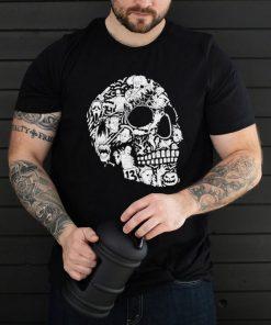 Skull horror characters Halloween mashup shirt