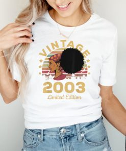 Vintage 2003 Made In 2003 18th Birthday Women 18 Years T Shirt