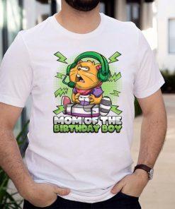 Womens Funny _Mom Of Birthday Boy_ Gaming Cat Gamer Bday T Shirt
