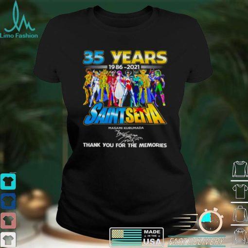 35 years 1986 2021 Saint Seiya Masami Kurumada signature thank you for the memories shirt