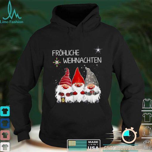 Gnomes Frohliche Weihnachten Christmas Shirt