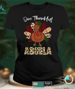 Official One Thankful Abuela Turkey Leopard Turkey Thanksgiving T Shirt