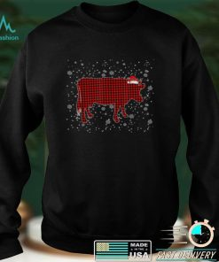 Official Red Buffalo Plaid Cow Christmas Pajamas Family Women Girls T Shirt