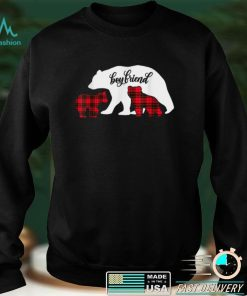 Official Red Plaid Boyfriend Bear Two Cubs Buffalo Pajama Xmas T Shirt