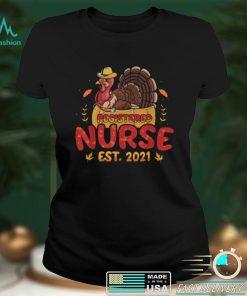 Official Registered Nurse Est 2021 RN Nursing Turkeys Thanksgiving T Shirt