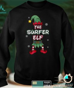 Official Surfer Elf christmas pajamas pjs matching family group T Shirt